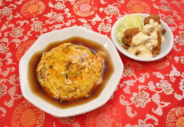 半天津飯麺セット(田上天神店)