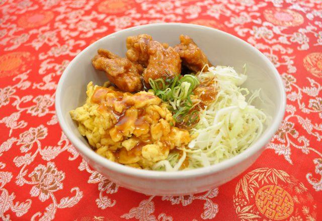 中華風トリ玉丼